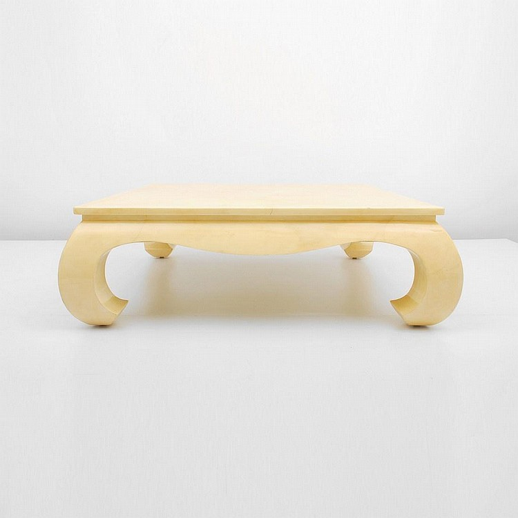 Large Lacquered Goatskin Table, Karl Springer