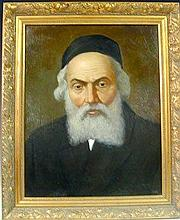 The Chafetz Chaim - Portrait Painting, Oil On Canvas.