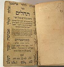 Hebrew Psalms Tehilim Book, Amsterdam, 1766, Judaica.
