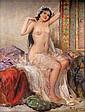 FABIO FABBI, NUDE WOMAN, ORIENTAL SCENE, oil on