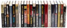 Twenty-two novels by James Lee Burke, including a few signed