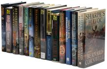 Fourteen novels by Bernard Cornwell, including four signed