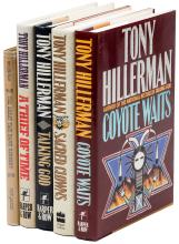 Five titles by Tony Hillerman, two of them signed