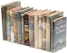 Fourteen novels by John Steinbeck, all but four are later editions