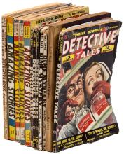 Appearances by Ray Bradbury in 4 issues of Amazing Stories, 4 issues of Detective Tales, 2 issues of Dime Mystery Magazine; and 1 issue of Fantastic Adventures