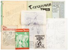 Ten fanzines or related small printings with Ray Bradbury contributions or content