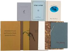 Eleven small and limited printings of works by Ray Bradbury in wrappers, including a few duplicates