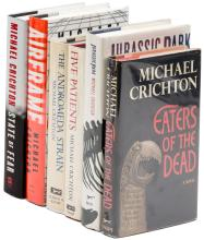 Six Volumes by Michael Crichton, Four Signed