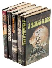 Nine Mars novels by Edgar Rice Burroughs, in five volumes, from Nelson Doubleday Inc.
