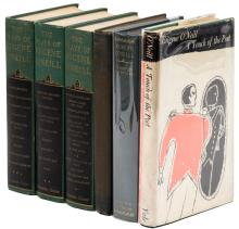 Six volumes of works by Eugene O'Neill