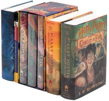 Shelf of Harry Potter Books