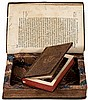Two book safes made from early printed books in period bindings