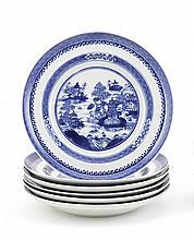 Seis pratos de sopa em porcelana chinesa da CI (6)