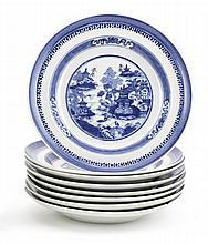 Oito pratos de sopa em porcelana chinesa da CI (8)