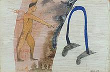 FRANCISCO LEIRO, mista s/cartão, 30 x 46,5 cm.