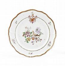 Prato porcelana Companhia das Índias, Corte Real