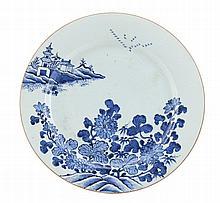 Grande prato em porcelana chinesa da CI