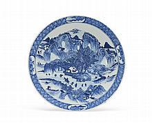 Grande prato em porcelana chinesa