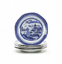 Conjunto de 6 pratos em porcelana chinesa