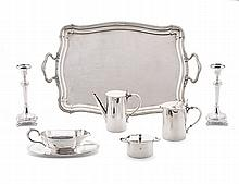 Tea and coffee set in silver, Leitão &Ir; (3)