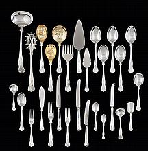 Cutlery set in English silvered metal, Sheffield EPNS