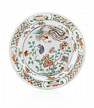 Plate in EIC Chinese porcelain, Kangxi
