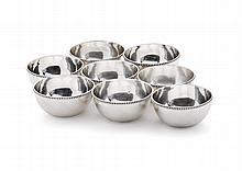 8 silver bowls, 20th century
