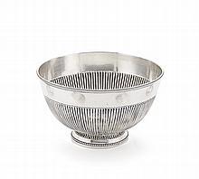 Bowl in Portuguese silver, 20th century