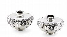 Pair of vases in Portuguese silver, 19th/20th century (2)