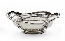Fruit bowl in Portuguese silver, 20th century