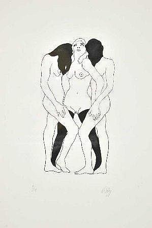 Nikias, gravura s/papel, 55 x 37 cm. NIKIAS