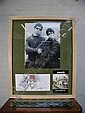 [ Entertainment Memorabilia ] First day cover of Love stamp dated 5. 3.02 signed in black marker pen Noel  and Liam Gallagher, Chris Robinson and