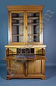 Victorian walnut secretaire bookcase, the base