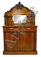 A Victorian walnut mirror-back chiffonier with