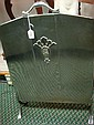 MASTERCRAFT Production Art Deco Chrome Fire Screen: