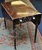 Late Regency mahogany Pembroke table with ring
