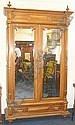 A French walnut Armoire fitted with 2 mirrored