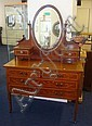 An Edwardian mahogany dressing table with