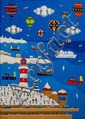 BRIAN POLLARD print 'Plymouth Hoe at Christmas'