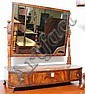Victorian mahogany dressing table mirror with