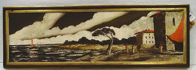 Homer Costello signed Oil Painting: Landscape with