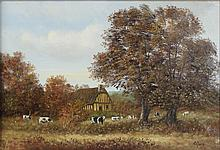 L. RAUX (FRENCH) NORMANDIE EN AUTOMNE - NORMANDY IN THE FALL Oil on canvas: 10 x 14 in.