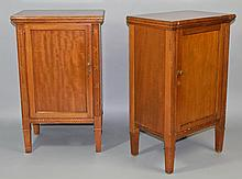 PAIR OF NEOCLASSICAL STYLE CARVED CHERRYWOOD CABINETS