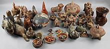 LARGE COLLECTION OF MEXICAN CERAMIC ANIMALS AND OTHER FIGURES