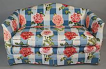 FLORAL UPHOLSTERED LOVESEAT