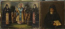 TWO RUSSIAN ICONS OF ST. NICHOLAS