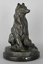 BRONZE MODEL OF A BEAR AFTER EVGENII LANCERAY