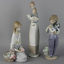 THREE LLADRO FIGURINES, INCLUDING THE LLADRO MUSEUM COLLECTOR'S SOCIETY EDITIONS