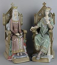 LLADRO FERNANDO AND ISABEL (FERDINAND AND ISABELLA) PORCELAIN FIGURES