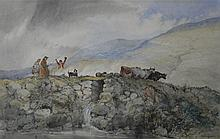JAMES RIDDEL (BRITISH, 19TH CENTURY) DOLWYDDELAN BRIDGE, WALES Watercolor: 11 1/8 x 17 5/8 in. (sight) 18 3/4 x 25 in. (framed)